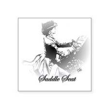 "Cute Horse saddle Square Sticker 3"" x 3"""