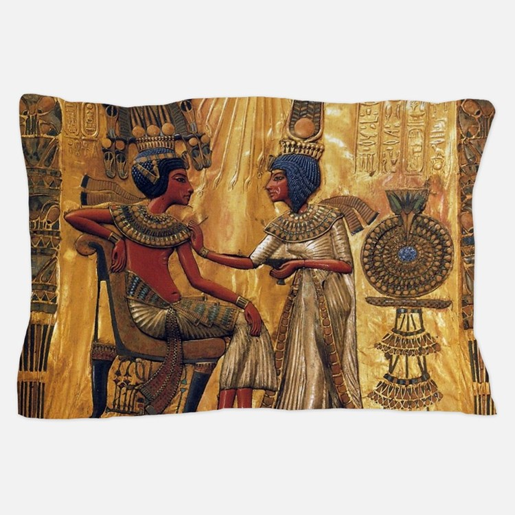 Tutankhamun Ankhesenamun Egypt Gold Pillow Case