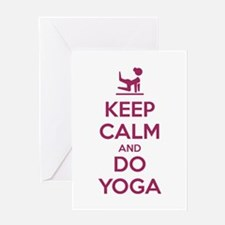 Keep Calm and do Yoga Greeting Cards