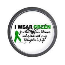 I Wear Green 2 (Saved My Daughter's Life) Wall Clo