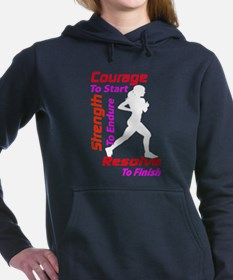 Woman Runner Women's Hooded Sweatshirt