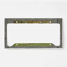 Wood window palomino License Plate Holder