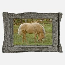 Wood window palomino Pillow Case