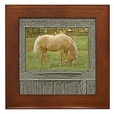 Wood window palomino Framed Tile