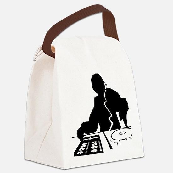 Cool Disc jockey Canvas Lunch Bag