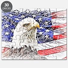 Cute Usa flag Puzzle