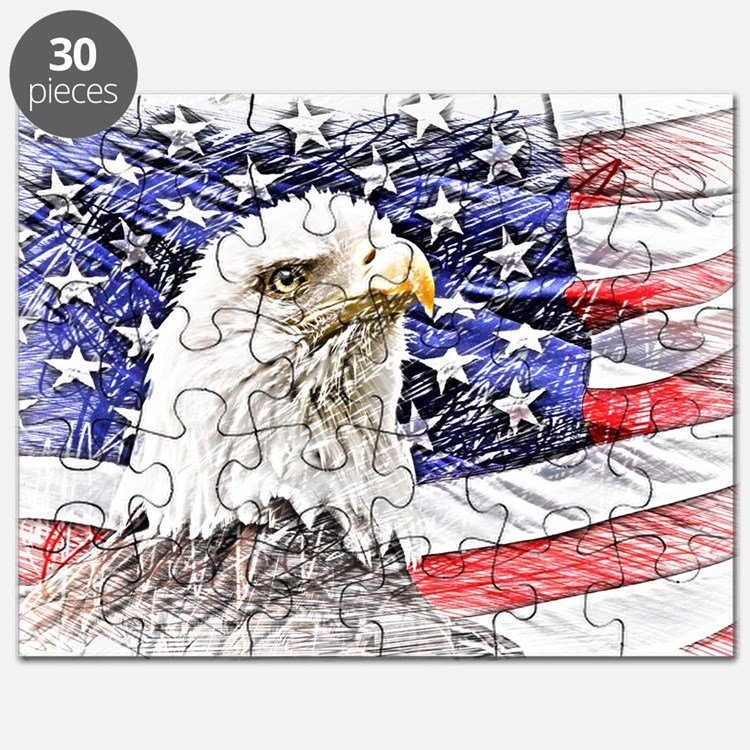 Cute Usa flags Puzzle