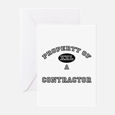 Property of a Contractor Greeting Cards (Pk of 10)