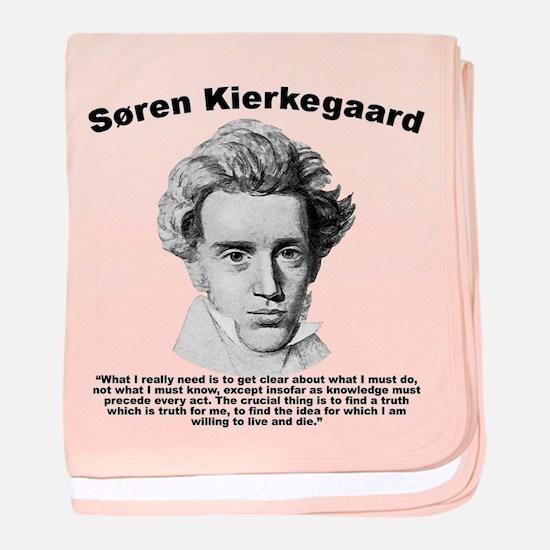 Kierkegaard Truth baby blanket