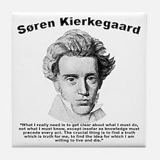 Kierkegaard Truth Tile Coaster