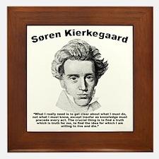 Kierkegaard Truth Framed Tile