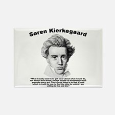 Kierkegaard Truth Rectangle Magnet