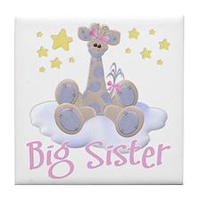 Giraffe Big Sister Tile Coaster
