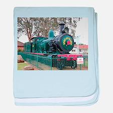Steam train engine, Parkes, Australia baby blanket