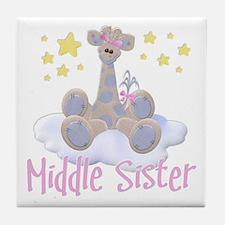 Giraffe Middle Sister Tile Coaster