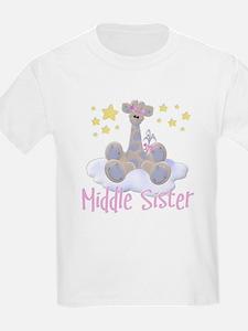 Giraffe Middle Sister T-Shirt