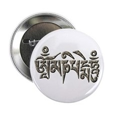 Antique Om Mani Padme Hum Button