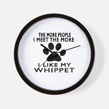 I Like More My Whippet Wall Clock