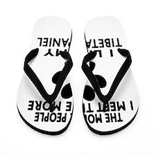 I Like More My Tibetan Spaniel Flip Flops