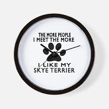 I Like More My Skye Terrier Wall Clock
