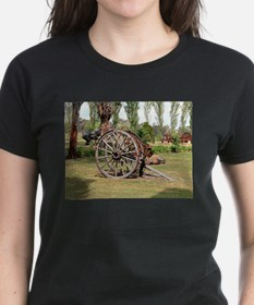 Old farm cart wheels, Australia T-Shirt