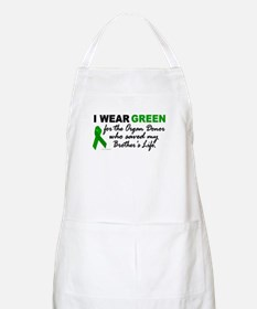 I Wear Green 2 (Saved My Brother's Life) BBQ Apron