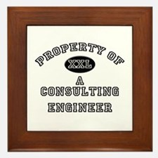 Property of a Consulting Engineer Framed Tile