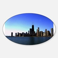 The Chicago Skyline in Feathered Art Decal