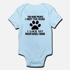 I Like More My Parson Russell Terr Infant Bodysuit
