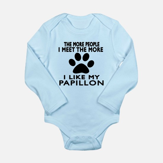 I Like More My Papillo Long Sleeve Infant Bodysuit