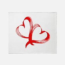 Double Heart Throw Blanket