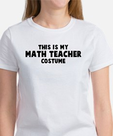 Math Teacher costume Tee
