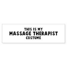 Massage Therapist costume Bumper Bumper Sticker