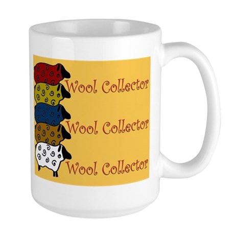 Wool Collector Large Mug - Cute sheep design