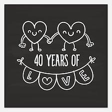 40th Anniversary Gift Chalk Invitations