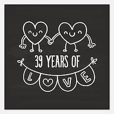 39th Anniversary Gift Chalk Invitations