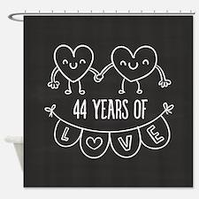 44th Anniversary Gift Chalkboard He Shower Curtain