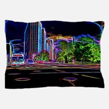Blazing Neons Chicago Lincoln Avenue Pillow Case