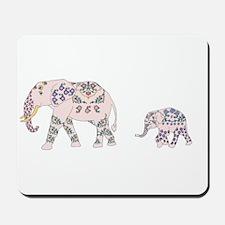 Pink Elephant Parade Mousepad