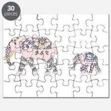 Pink Elephant Parade Puzzle