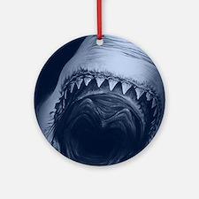 Big Shark Jaws Round Ornament