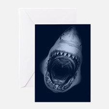 Big Shark Jaws Greeting Cards