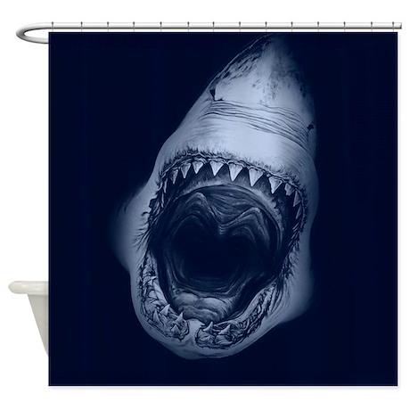 Big Shark Jaws Shower Curtain