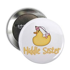 Yellow Duck Middle Sister Button