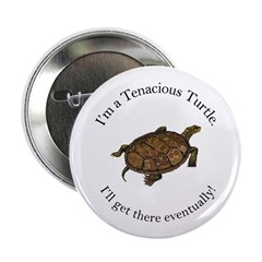Tenacious Turtle Button