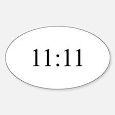 11:11 Oval Decal