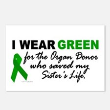 I Wear Green 2 (Saved My Sister's Life) Postcards