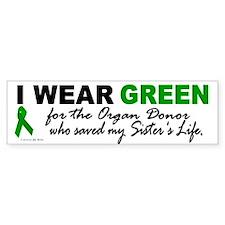 I Wear Green 2 (Saved My Sister's Life) Car Sticker