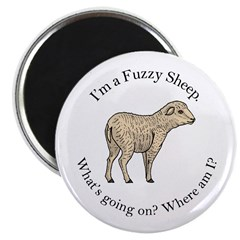 Fuzzy Sheep Magnet