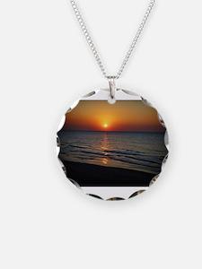 Bat Yam Beach Necklace Circle Charm